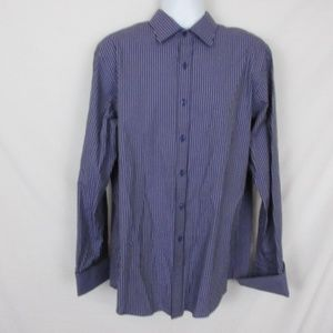 Sean John Button Front Shirt Purple Striped
